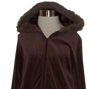 Kim Rogers Brown Full Zip Fleece Hoodie Jacket